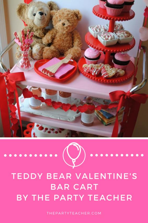 Teddy Bear Valentine's Bar Cart by The Party Teacher