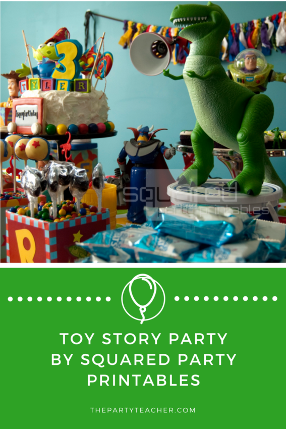Toy Story Party by Squared Party Printables featured on The Party Teacher