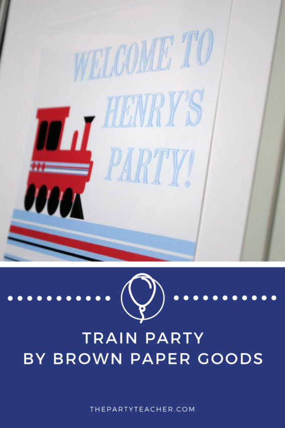 Train Party by Brown Paper Goods featured on The Party Teacher