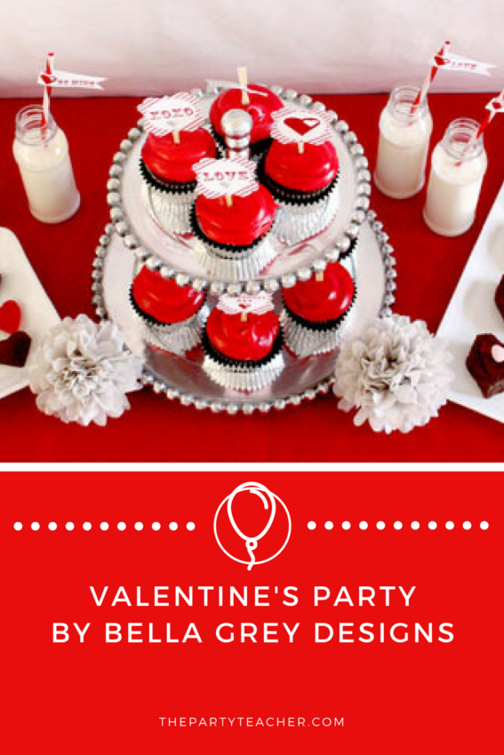 Valentine's Day Party by BellaGrey Designs featured on The Party Teacher