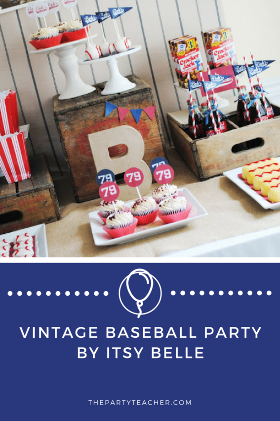 Vintage Baseball Party by Itsy Belle featured on The Party Teacher