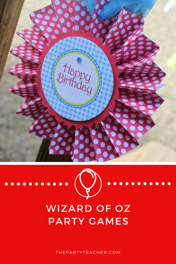 Wizard of Oz Party Games featured on The Party Teacher