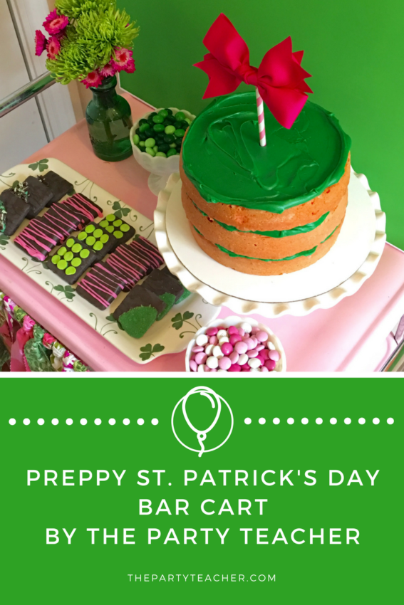Preppy St. Patrick's Day Bar Cart by The Party Teacher
