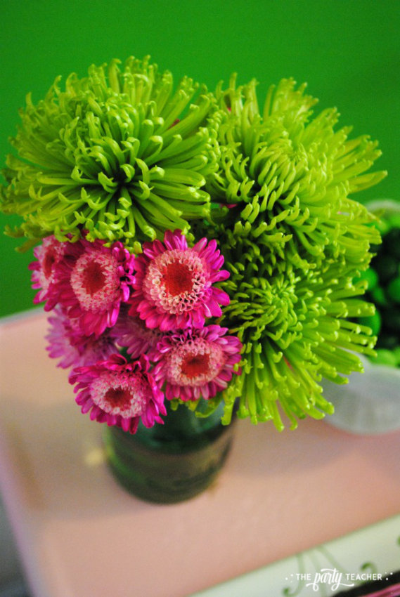 Simply Irish St Patricks Day Party by The Party Teacher - flowers 2