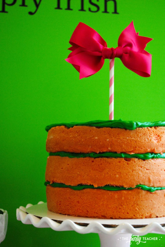 Simply Irish St Patricks Day Party by The Party Teacher - naked cake