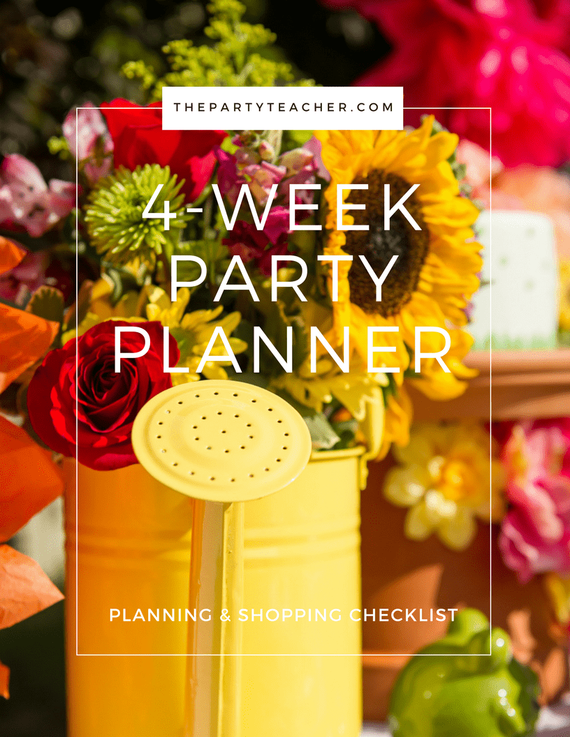 4-Week Party Planner Cover