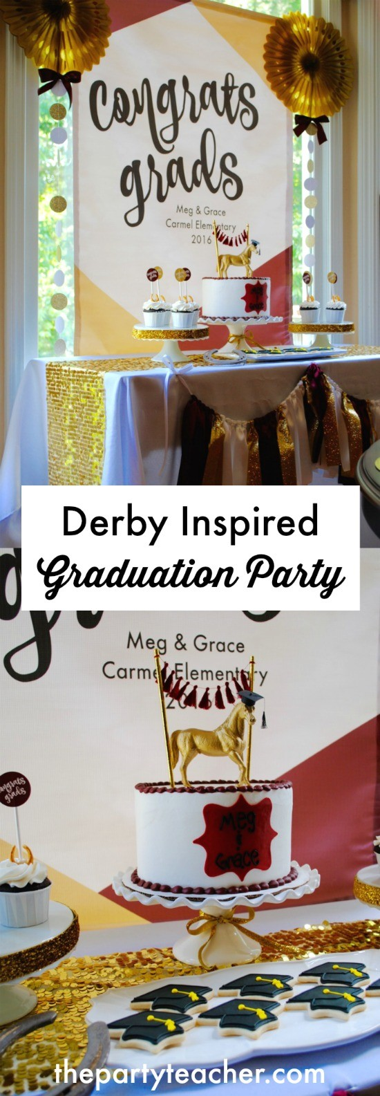 Derby Inspired Graduation Party by The Party Teacher