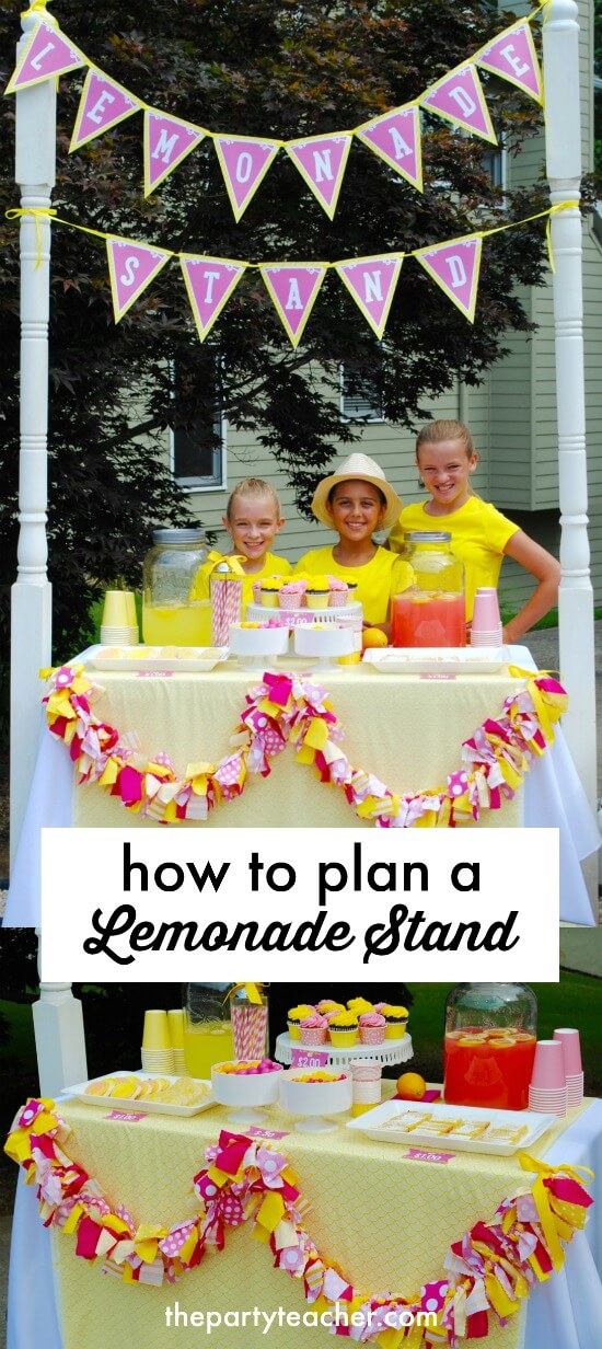 How to plan a lemonade stand by The Party Teacher
