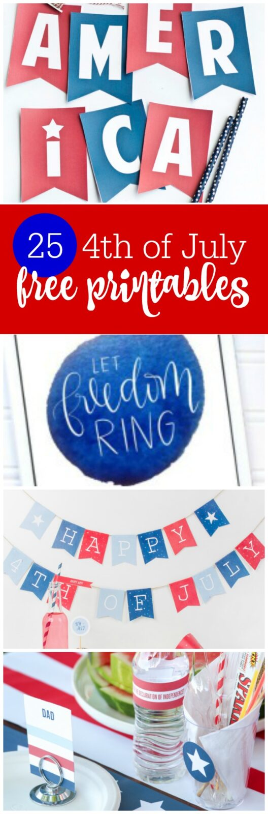 Freebie Friday: 25 4th of July Free Party Printables - The Party Teacher