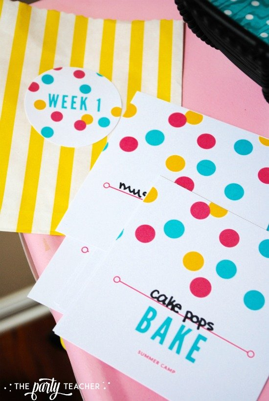 8 weeks of summer fun ideas by The Party Teacher - free printables