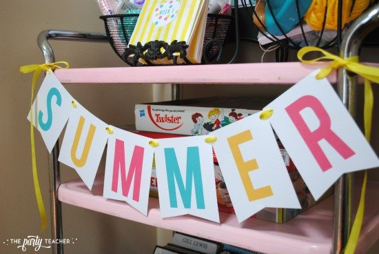 8 weeks of summer fun ideas by The Party Teacher - free summer banner
