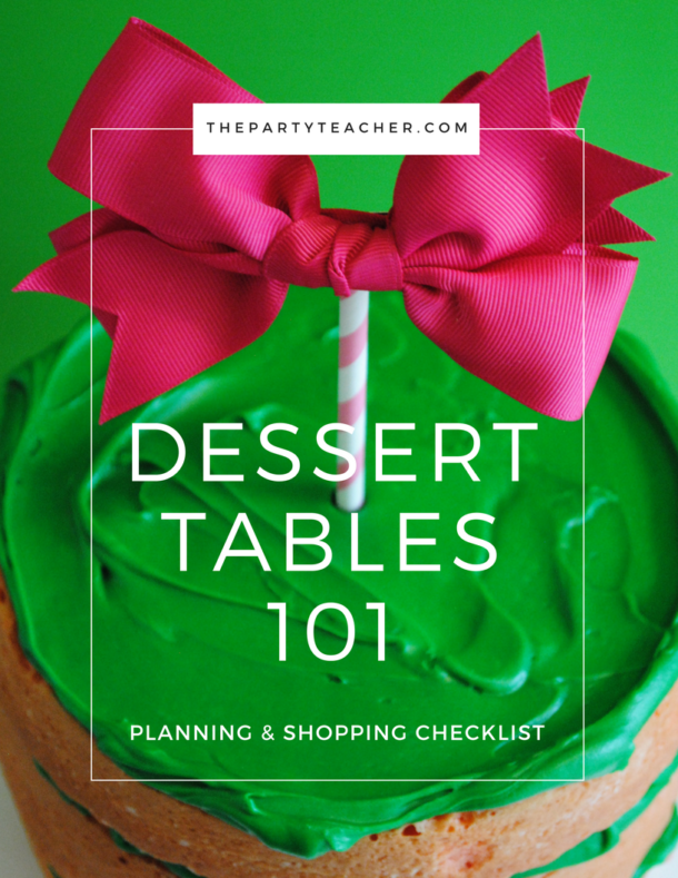 Dessert Tables 101 Checklist Cover