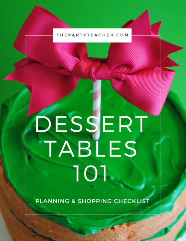 Dessert Tables 101 Checklist Cover