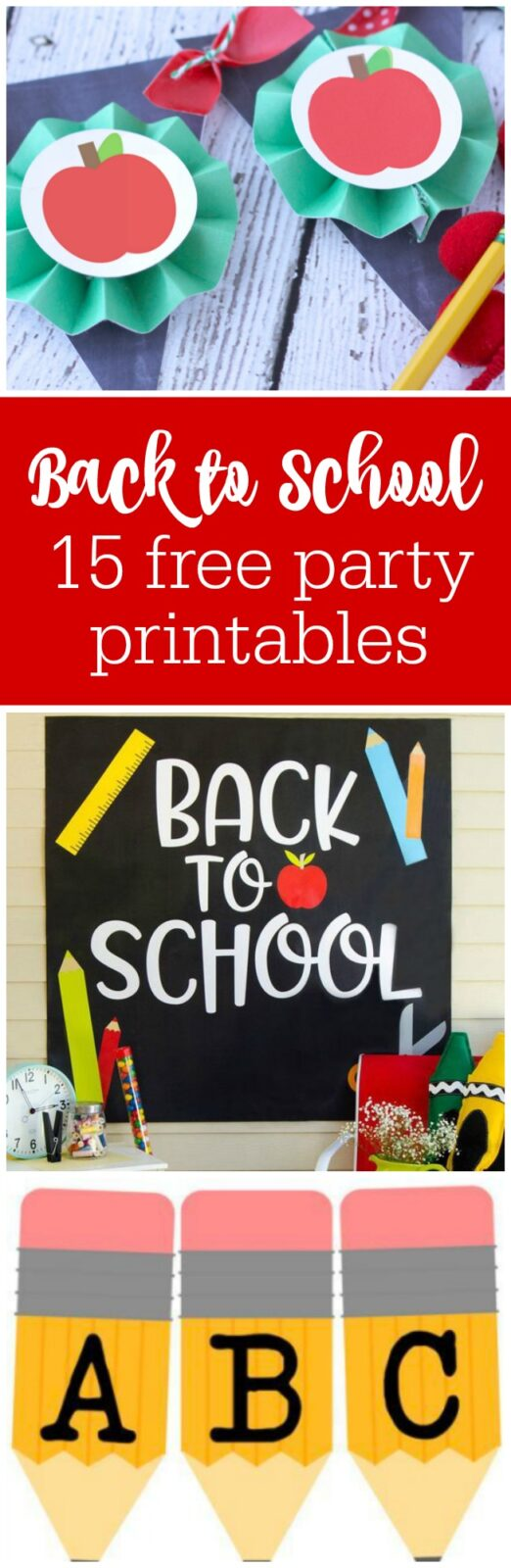 Freebie Friday 15 Back To School Party Printables The Party Teacher