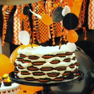 Easy Halloween Icebox Oreo Cake