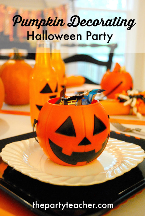 How to Host a Pumpkin Decorating Halloween Party by The Party Teacher