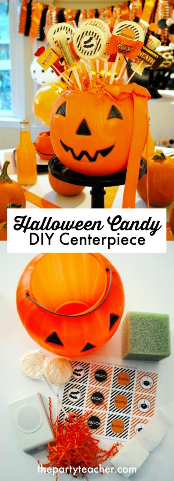How to make a Halloween candy centerpiece by The Party Teacher