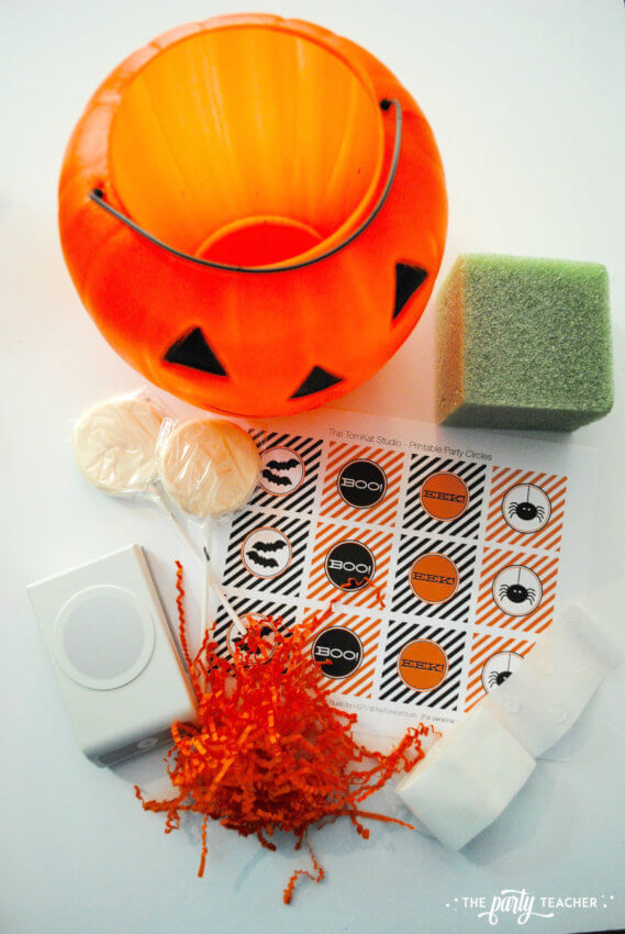 Halloween Candy DIY Centerpiece by The Party Teacher - supplies