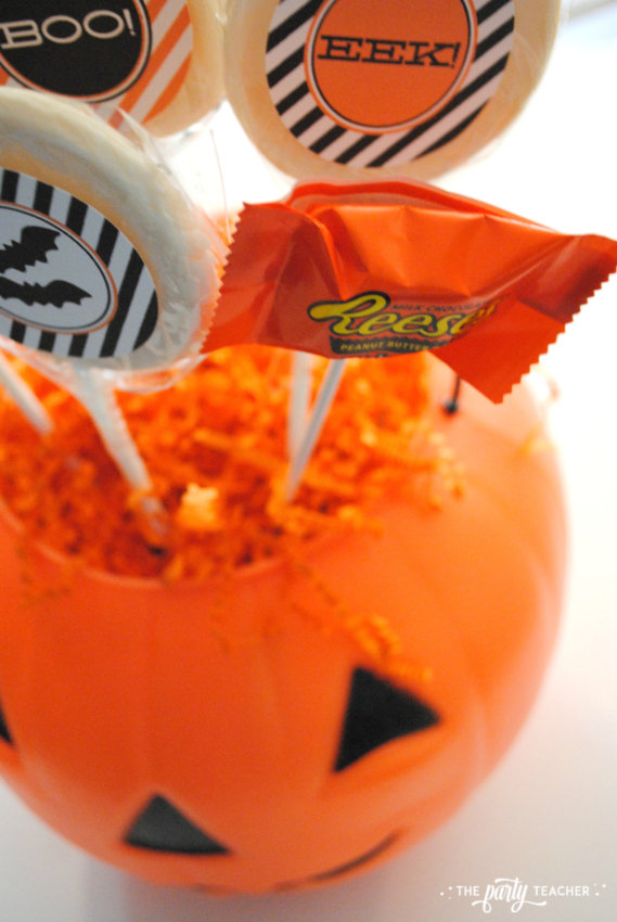 Halloween Candy DIY Centerpiece by The Party Teacher - add candy