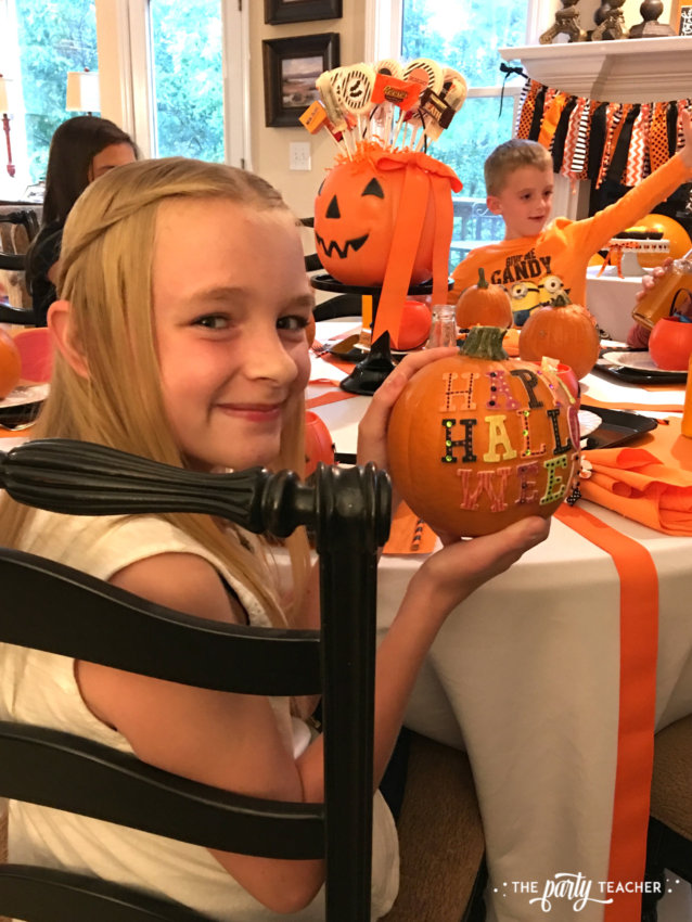 Pumpkin Decorating Halloween Party by The Party Teacher - kids 2