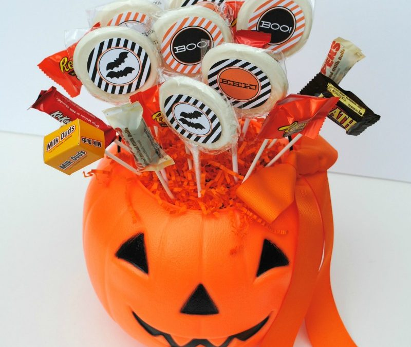 Halloween Candy Centerpiece Tutorial