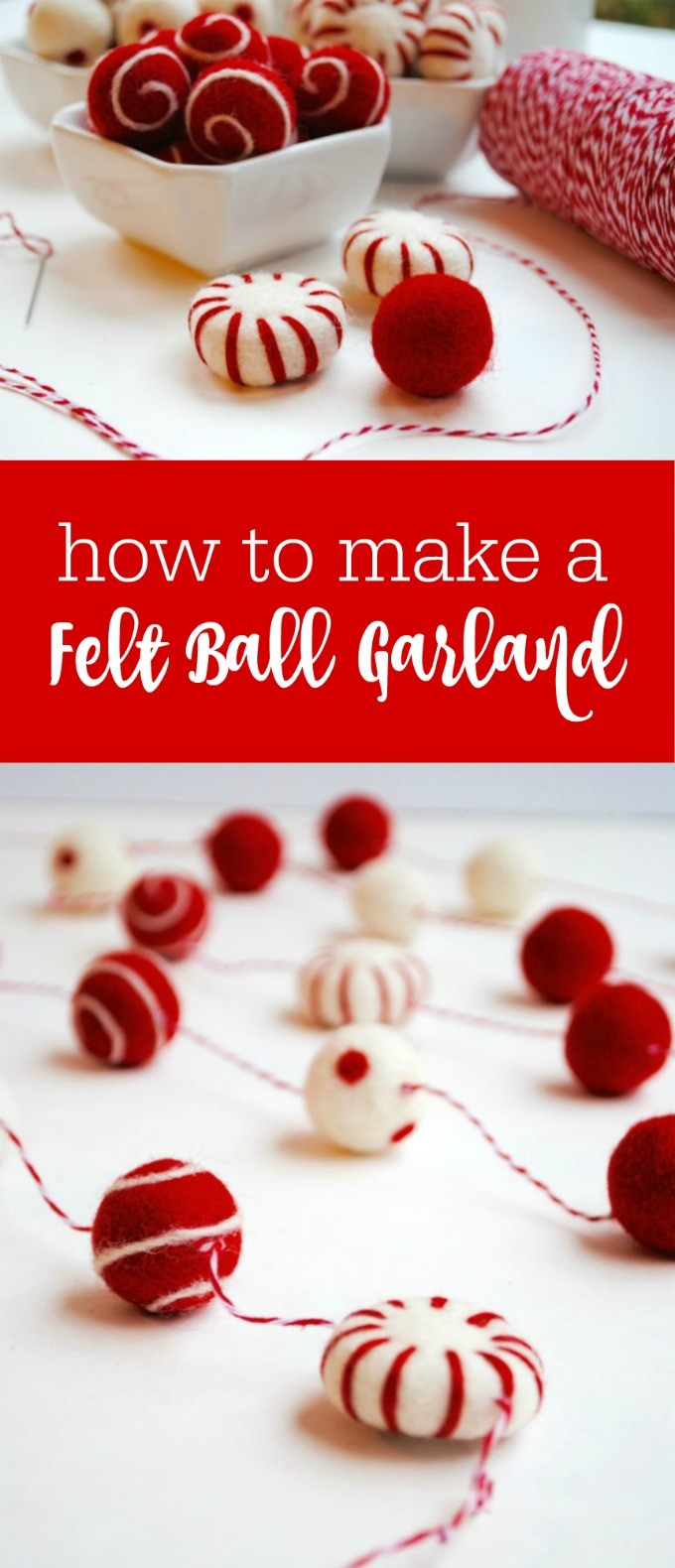 How to make a felt ball garland by The Party Teacher