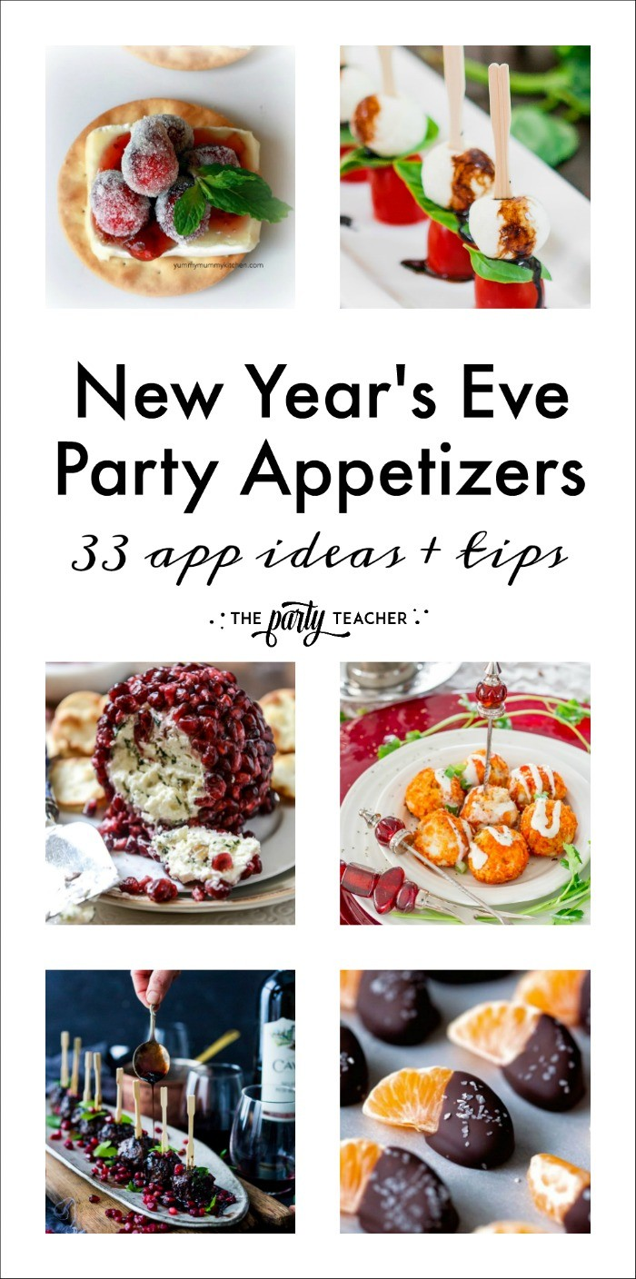 33 New Year's Eve party appetizers and party tips by The Party Teacher