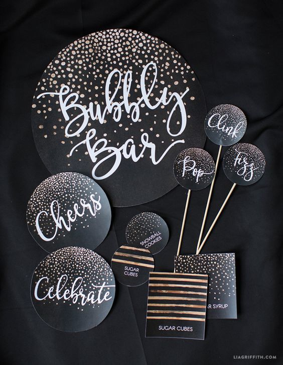 Lia Griffin New Year's Eve party free printables
