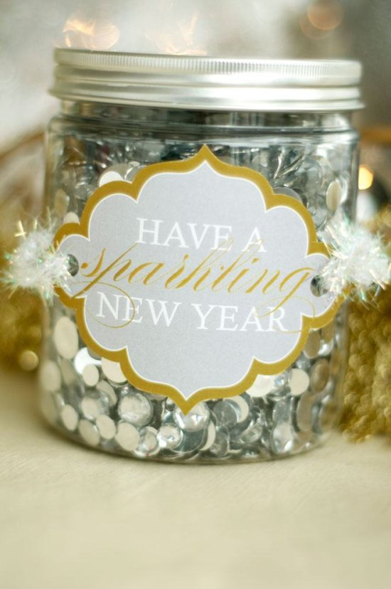 FF Love the Day NYE sparkling label