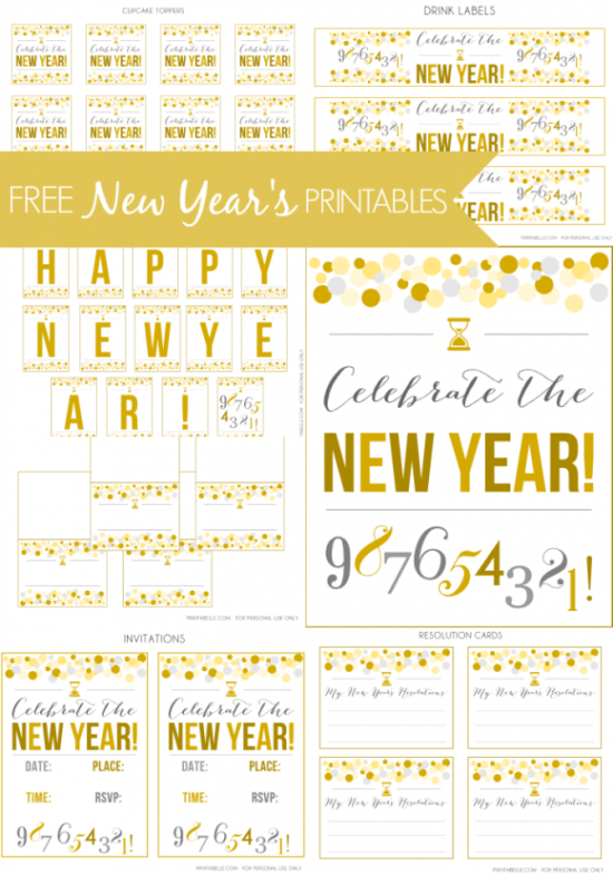 FF Printable via Catch My Party NYE