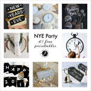 New Year's Eve Free Printables Square