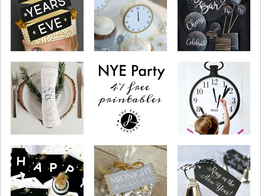 Freebie Friday: 47 New Year's Eve Free Printables
