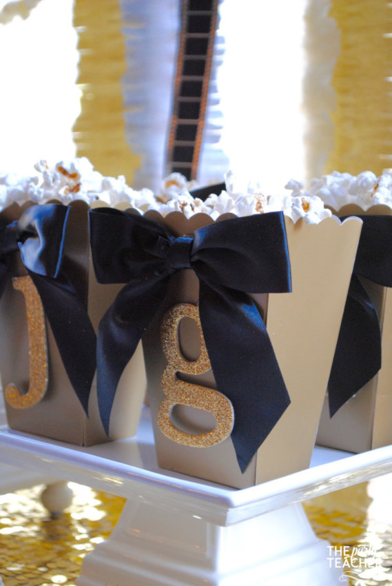 New Year's Eve Family Movie Night by The Party Teacher - individual popcorn boxes