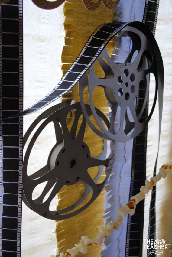 New Year's Eve Family Movie Night by The Party Teacher - film reels backdrop