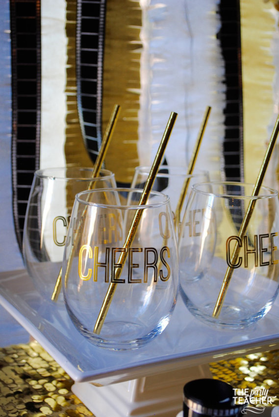 New Year's Eve Family Movie Night by The Party Teacher - cheers glasses