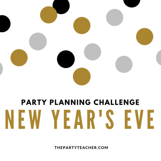 New Year's Eve party planning challenge with The Party Teacher