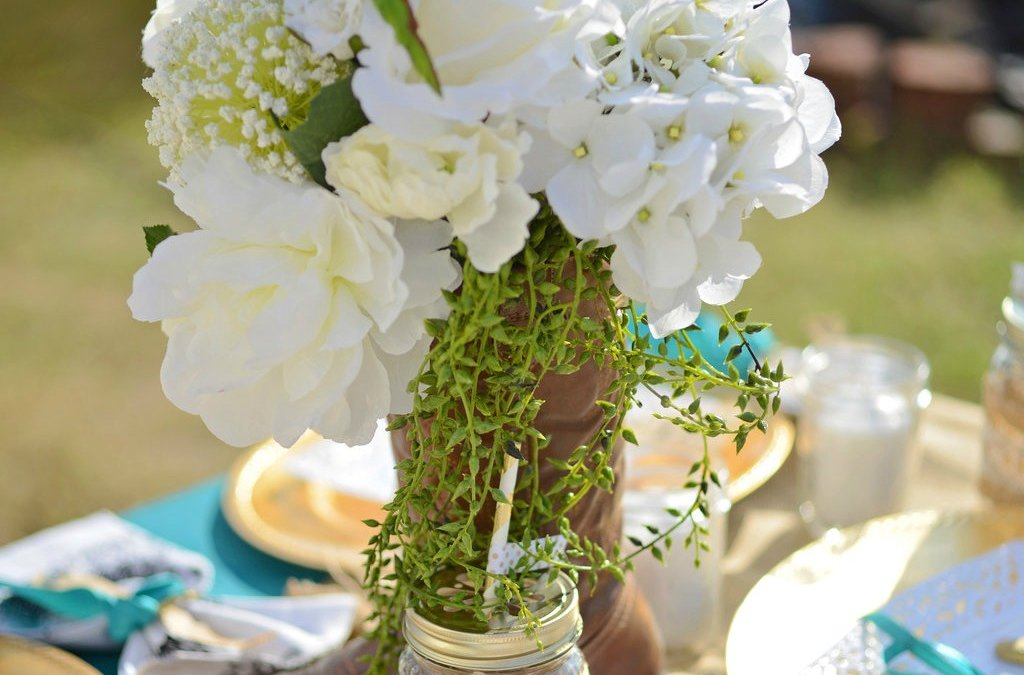 Tutorial: How to make a cowgirl boot centerpiece