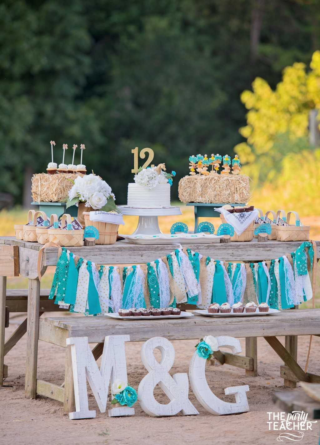 Horseback Riding Party by The Party Teacher - dessert table