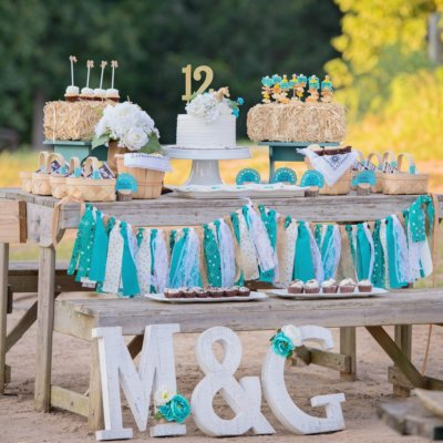 Tutorial: How to decorate rustic birthday party letters