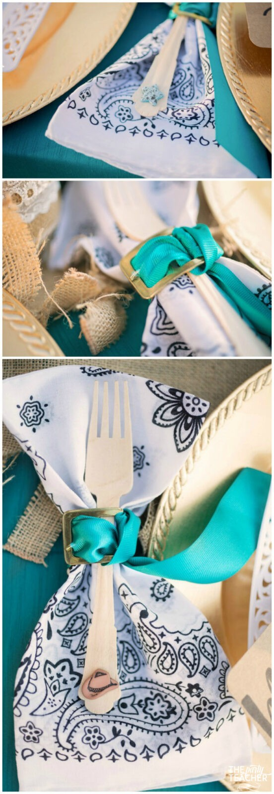 Horseback Riding Party by The Party Teacher - fork napkin ring