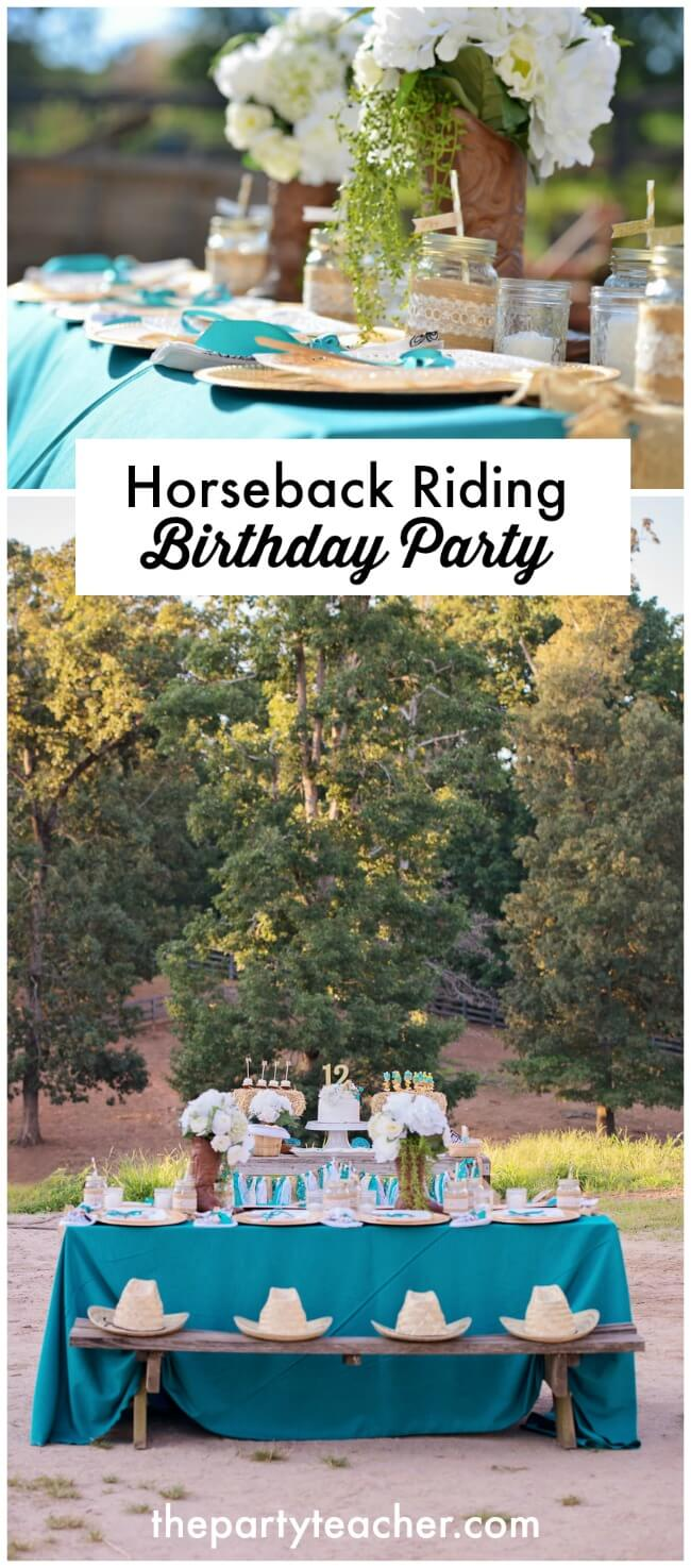 Horseback riding birthday party by The Party Teacher