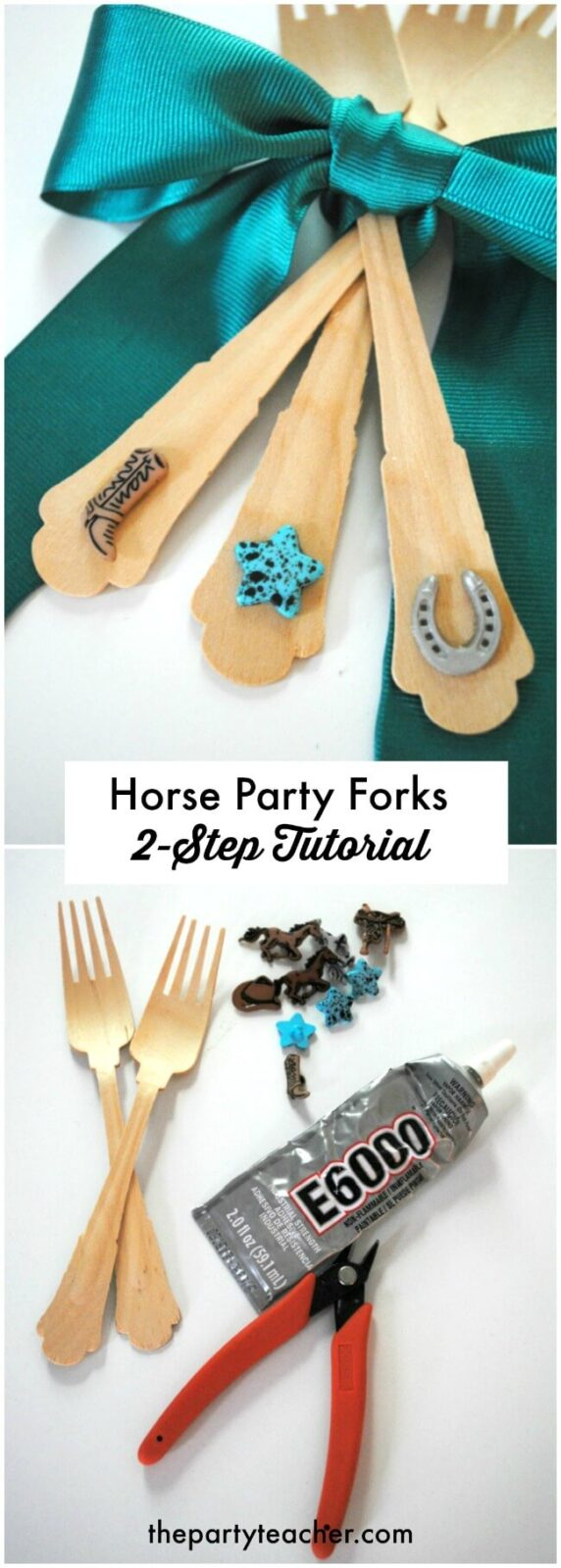 How to decorate forks for a horse party - easy 2-step tutorial by The Party Teacher