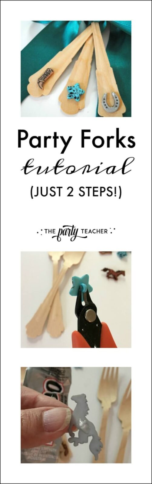 How to decorate party forks - just 2 steps - by The Party Teacher