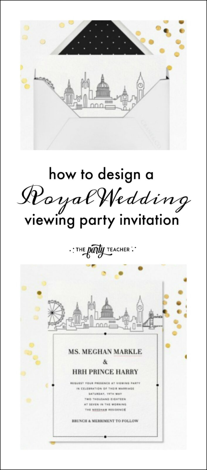How to design a royal wedding party invitation with Paperless Post by The Party Teacher