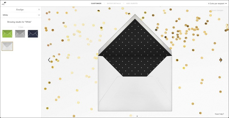 Paperless Post Envelope Color