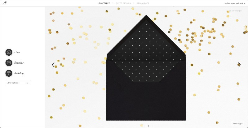 Paperless Post Envelope Liner