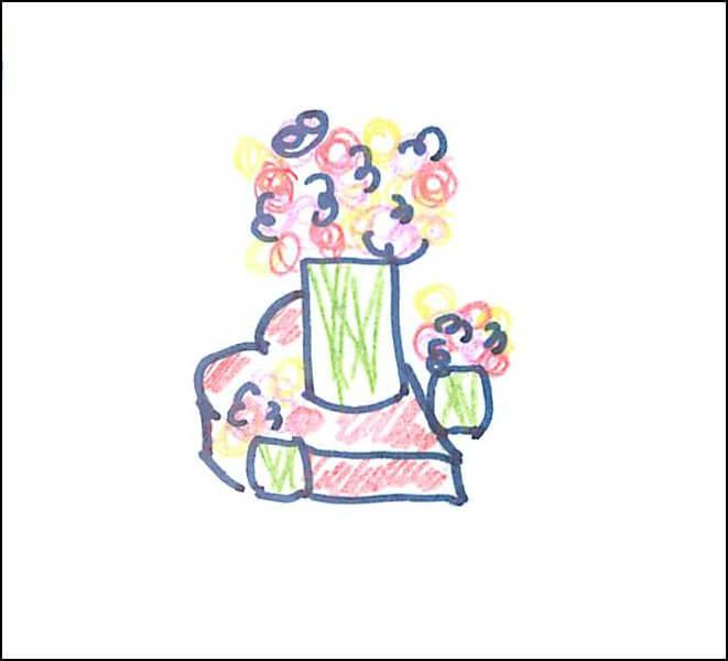 Valentine's Day Party Centerpiece Sketch