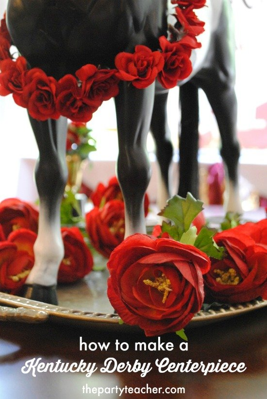 How to make a Kentucky Derby Centerpiece by The Party Teacher