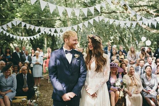 Royal Wedding - A Fete Beckons - white flag garland