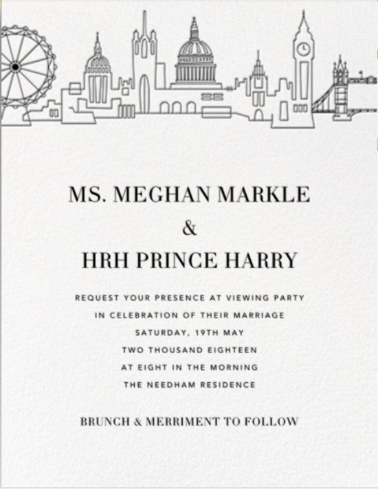 Royal Wedding - Paperless Post - Viewing Party Invitation